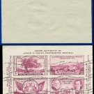 1936 USA USED Sc# 778 – 3c Violet Sht of 4 – 1936 3rd International Philatelic Exhibition E3465