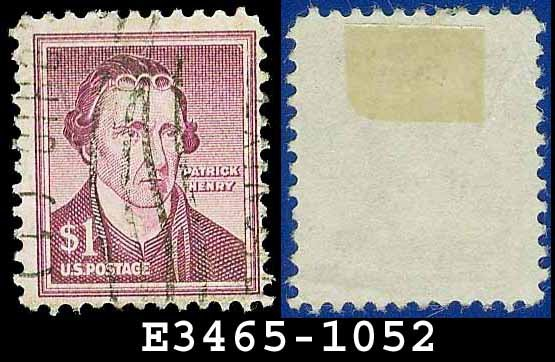 1954-61 USA USED Scott# 1052 � $1 Patrick Henry � 1954-61 Liberty Series