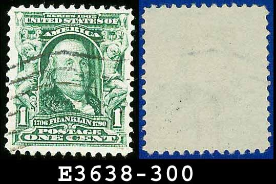 1902-03 USA USED Scott# 300 � 1c Franklin 1st Postmaster General � 1902-03 Regular Series
