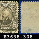 1902-03 USA USED Scott# 308 – 13c B Harrison 23rd President – 1902-03 Regular Series Perf 12