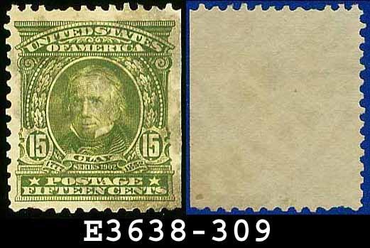 1902-03 USA USED Scott# 309 � 15c Henry Clay Statesman � 1902-03 Regular Series Perf 12