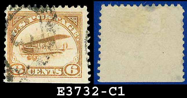 1918 USA USED C1 � 6c Orange Curtiss Jenny Airmail � 1918 Curtiss Jenny Issue