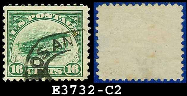 1918 USA USED C2 � 16c Green Curtiss Jenny Airmail � 1918 Curtiss Jenny Issue