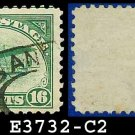 1918 USA USED C2 – 16c Green Curtiss Jenny Airmail – 1918 Curtiss Jenny Issue