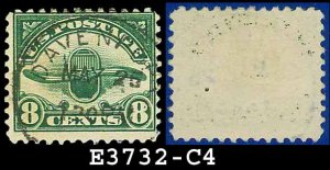 1923 USA USED C4 � 8c Green Radiator and Propeller Airmail � 1923 Airmail Issue