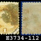 1869 USA USED Scott# 112 – 1c Franklin Pictorial – 1869 Pictorial Issues E3734