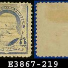 1890-93 USA USED Scott# 219 – 1c Dull Blue Franklin – 1890-93 Regular Issue