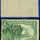 1898 USA USED Scott# 285 – 1c Marquette on the Mississippi – Trans-Mississippi Series