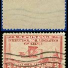 1928 USA USED Scott# 649 – 2c Wright Airplane – International Civil Aeronautics Conference Issue