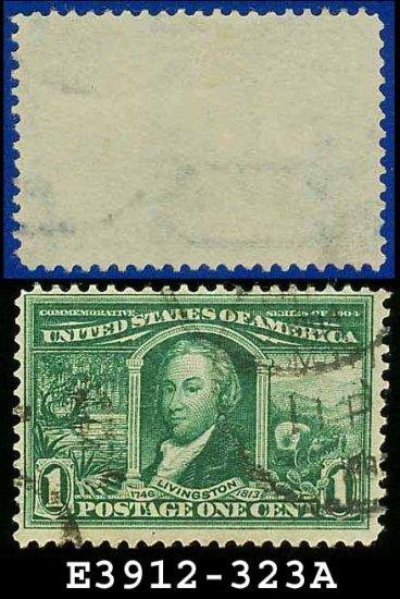 1904 USA USED Scott# 323 � 1c Green Robert Livingston � 1904 Louisiana Purchase Issue