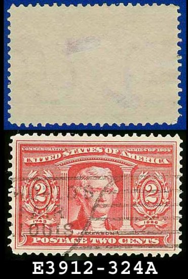 1904 USA USED Scott# 324 � 2c Carmine Jefferson � 1904 Louisiana Purchase Issue