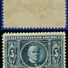 1904 USA USED Scott# 326 – 5c Blue McKinley – 1904 Louisiana Purchase Issue