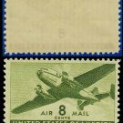 1941-44 USA UNUSED C26 – 8c Olive Green Twin-Motored Transport Plane – 1941-44 Airmail Issue