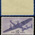 1941-44 USA UNUSED C27 – 10c Violet Twin-Motored Transport Plane – 1941-44 Airmail Issue