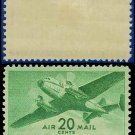 1941-44 USA UNUSED C29 – 20c Green Twin-Motored Transport Plane – 1941-44 Airmail Issue