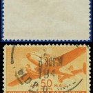 1941-44 USA USED C31 – 50c Orange Twin-Motored Transport Plane – 1941-44 Airmail Issue