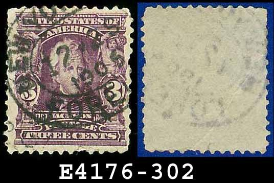 1902-03 USA USED Scott# 302 � 3c Jackson 7th US President � 1902-03 Regular Series Perf 12
