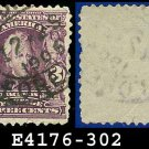 1902-03 USA USED Scott# 302 – 3c Jackson 7th US President – 1902-03 Regular Series Perf 12