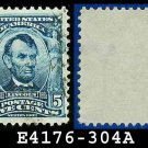 1902-03 USA USED Scott# 304 – 5c Lincoln 16th US President – 1902-03 Regular Series Perf 12