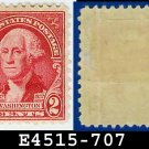 1932 USA UNUSED Scott# 707 – 2c Carmine Rose Washington - 1932 Washington Bicentennial Issue