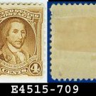 1932 USA UNUSED Scott# 709 – 4c Light Brown Washington - 1932 Washington Bicentennial Issue