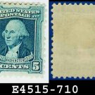 1932 USA UNUSED Scott# 710 – 5c Blue Washington - 1932 Washington Bicentennial Issue