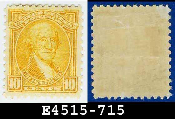 1932 USA UNUSED Scott# 715 � 10c Orange Yellow Washington - 1932 Washington Bicentennial Issue
