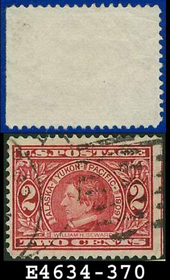 1909 USA UNUSED Scott# 370 � 2c William H Seward - 1909  Alaska-Yukon Pacific Issue