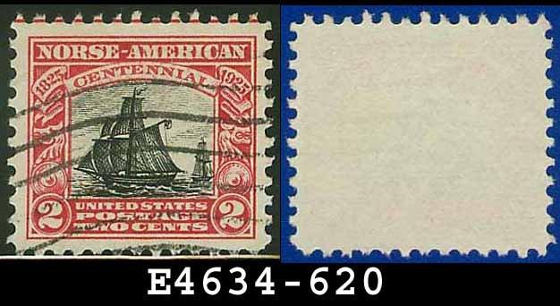1925 USA USED Scott# 620 � 2c Carmine & Black Restaurationen � Norse-American Issue