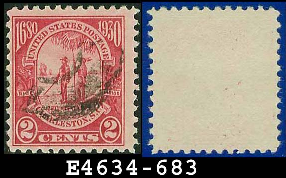 1930-31 USA USED Scott# 683 � 2c Carmine Governor and Indian � 1930-31 Commemoratives Issue