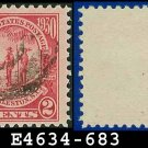 1930-31 USA USED Scott# 683 – 2c Carmine Governor and Indian – 1930-31 Commemoratives Issue
