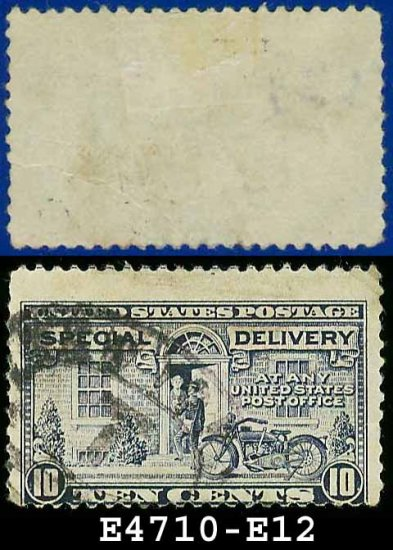 1922-25 USA USED E12 � 10c Grey Violet Motorcycle Delivery - Special Delivery Issue