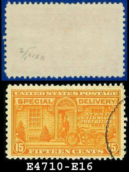 1927-51 USA USED E16 � 15c Orange Motorcycle Delivery - Special Delivery Issue