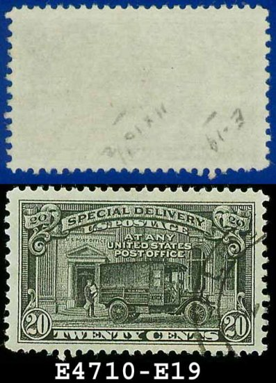 1927-51 USA USED E19 � 20c Black Post Office Truck - Special Delivery Issue