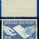 1954 USA USED E20 – 20c Blue Letter Hand to Hand - Special Delivery Issue