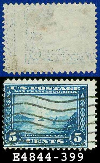 1913 USA USED Scott# 399 � 5c Golden Gate � Panama-Pacific Issue