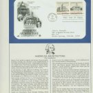 1979 USA FDC Scott# 1781-82 – Jun 4, 1979 American Architecture on Cachet Addressed Cover E4859P