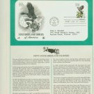 1982 USA FDC Scott# 1961 – Apr 14 – State Birds and Flowers on Cachet Addressed Cover E4859P