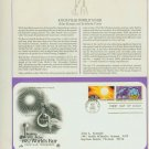 1982 USA FDC Scott# 2006-7 – Apr 29 – The 1982 World's Fair on Cachet Addressed Cover E4859P