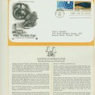 1982 USA FDC Scott# 2008-9 – Apr 29 – The 1982 World's Fair on Cachet Addressed Cover E4859P