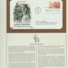 1982 USA FDC Scott# 2011 – May 21 – Aging Together in America on Cachet Addressed Cover E4859P