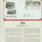 1982 USA FDC Scott# 2019-20 – Sep 30 – American Architecture on Cachet Addressed Cover E4859P