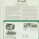 1982 USA FDC Scott# 2021-22 – Sep 30 – American Architecture on Cachet Addressed Cover E4859P