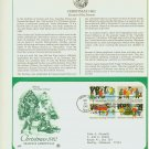 1982 USA FDC Sc# 2027-30 – Oct 28 – Christmas Season Greetings on Cachet Addressed Cover E4859P