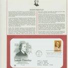 1983 USA FDC Scott# 2038 – Apr 13 – Honoring Joseph Priestley on Cachet Addressed Cover E4859P