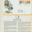 1983 USA FDC Sc# 2055-6 – Sep 21 – Honoring Americas Inventors on Cachet Addressed Cover E4859P