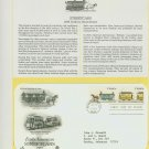 1983 USA FDC Scott# 2059-60 – Oct 8 – Early American Streetcars on Cachet Addressed Cover E4859P