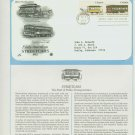 1983 USA FDC Scott# 2061-62 – Oct 8 – Early American Streetcars on Cachet Addressed Cover E4859P
