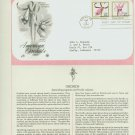 1984 USA FDC Scott# 2078-79 – Mar 5 – American Orchids on Cachet Addressed Cover E4859P