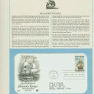 1984 USA FDC Scott# 2093 – Jul 13 – Roanoke Voyages on Cachet Addressed Cover E4859P